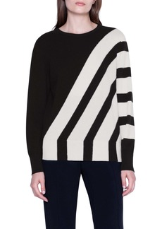 Akris Intarsia Stripe Cashmere Sweater