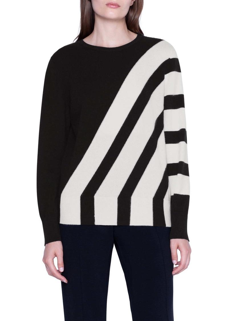 Akris Intarsia Stripe Cashmere Sweater