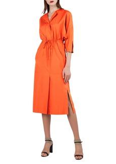 Akris Kimono Sleeve Cotton Poplin Dress