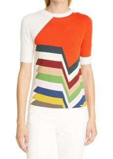 Akris Kinderstern Intarsia Cotton, Cashmere & Silk Sweater