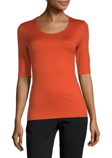 Akris Knit Scoop-Neck Top