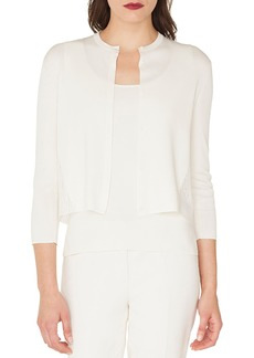 Akris Lace Back Silk Cardigan
