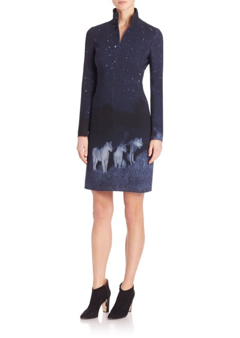 Akris Lions In The Night Zip Dress