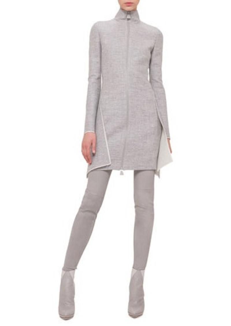 Akris Long-Sleeve Double-Face Apron Dress