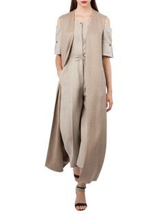 Akris Long Tweed Gilet
