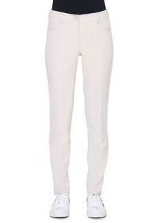 Akris Magda 5-Pocket Slim Cotton/Silk Pants