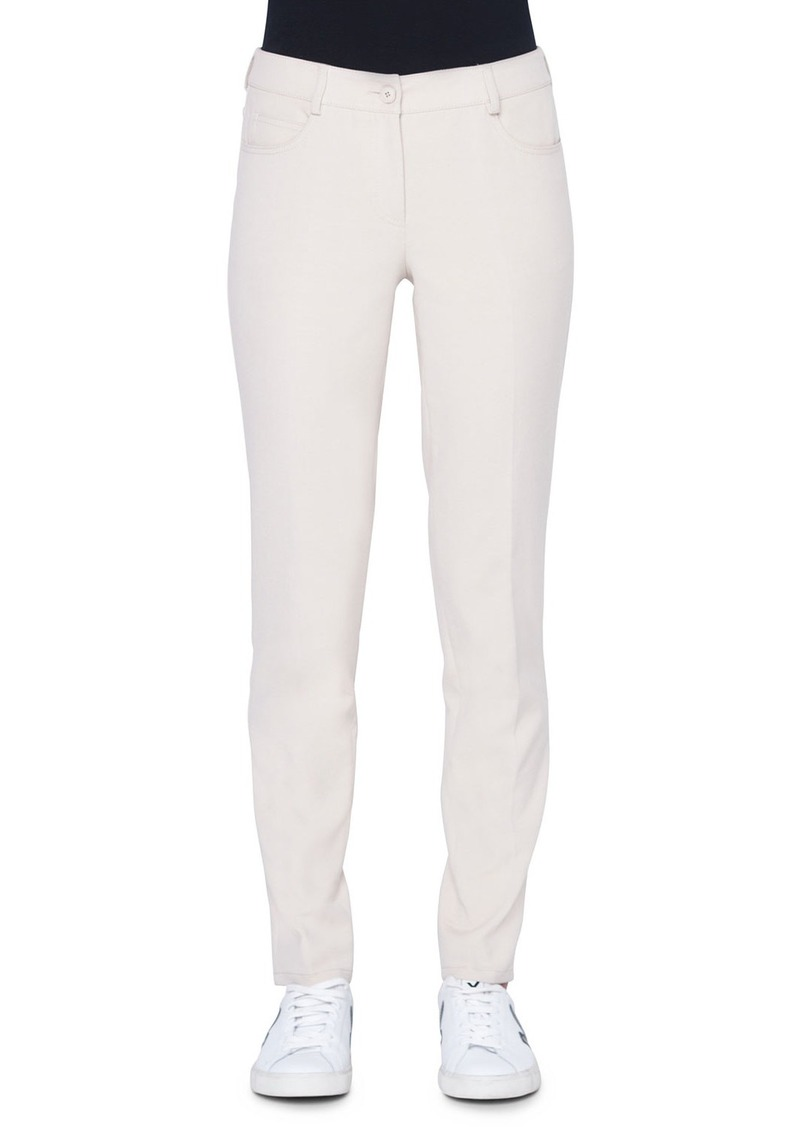 Akris Magda 5-Pocket Slim Cotton/Silk Pants