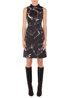 Akris Marble Tile Jacquard Dress