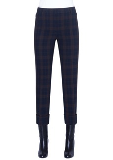 Akris Maxima Plaid Crop Pants