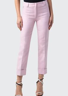 Akris Maxima Pleated Cropped Cuff Pants
