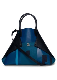 Akris Medium AI Patchwork Leather Tote