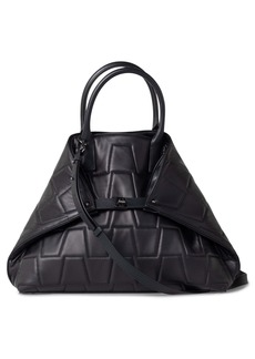 Akris Medium AI Quilted Trapezoid Leather Tote