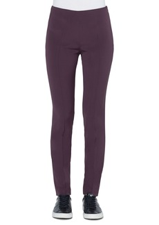 Akris Melissa Slim Stretch Silk Crepe Pants