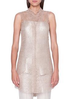 Akris Metallic Lace Tunic Blouse