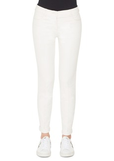 Akris Mid-Rise Slim-Leg Cotton-Silk Denim Pants