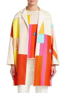 Akris Mural Reversible Silk & Cotton Coat