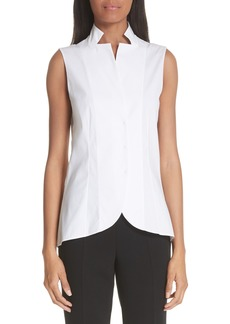 Akris Notch Collar Blouse