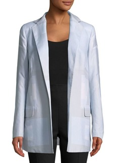 Akris Open Front Cotton Jacket