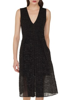 Akris Organza Ribbon Stripe Dress