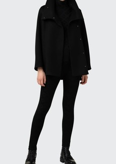 Akris Oversized Collar Cashmere Coat