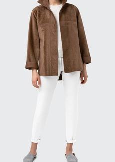 Akris Oversized Reversible Lamb Shearling Jacket
