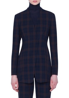 Akris Plaid Long Jacket