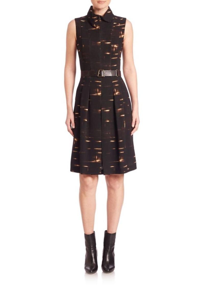 Akris Pleated Wool Dress