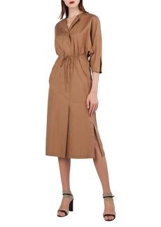 Akris Poplin Kimono Dress w/Drawstring