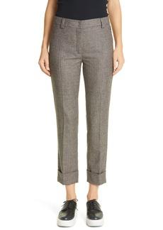 Akris Prince of Wales Wool Flannel Crop Pants