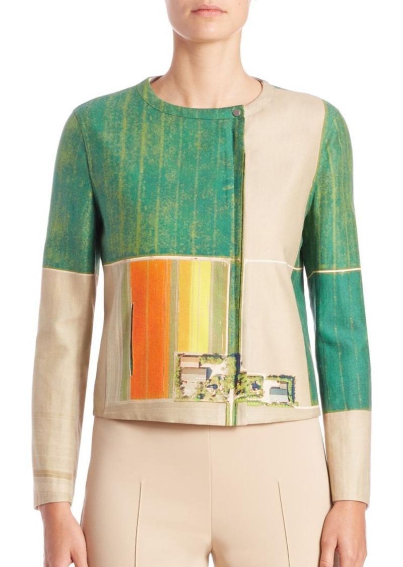Akris Printed Cotton-Blend Jacket