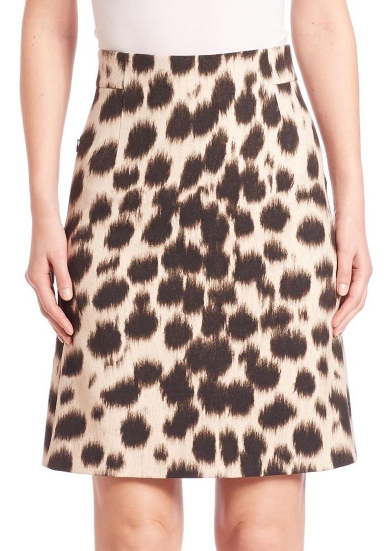 Akris Printed Wool Skirt