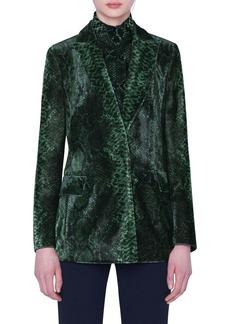 Akris Python Print Velvet Blazer
