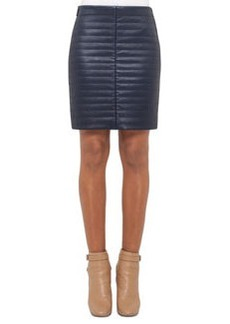 Akris Quilted Napa Leather Skirt