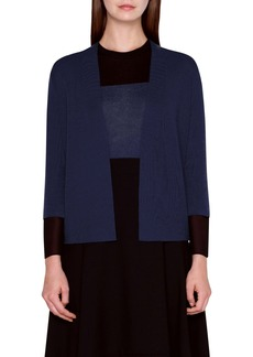 Akris Removable Cuff Cashmere & Silk Cardigan