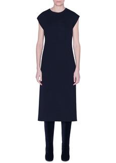 Akris Reversible Bicolor Cashmere & Silk Midi Dress