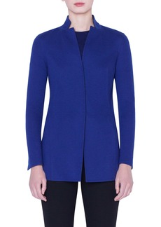 Akris Reversible Bicolor Cashmere Blend Jersey Jacket