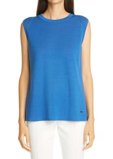 Akris Reversible Bicolor Double Face Cashmere & Silk Shell