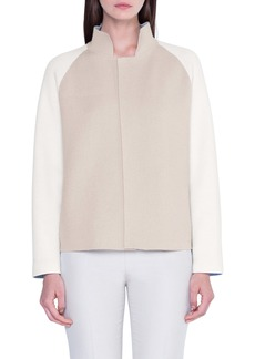 Akris Reversible Double Face Cashmere Sweater Jacket