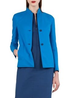 Akris Reversible Double Face Cotton & Silk Blazer