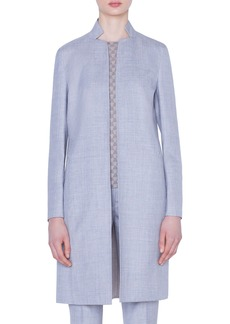 Akris Reversible Double Face Wool & Silk Jacket