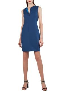 Akris Reversible Double Faced Cotton & Silk Dress