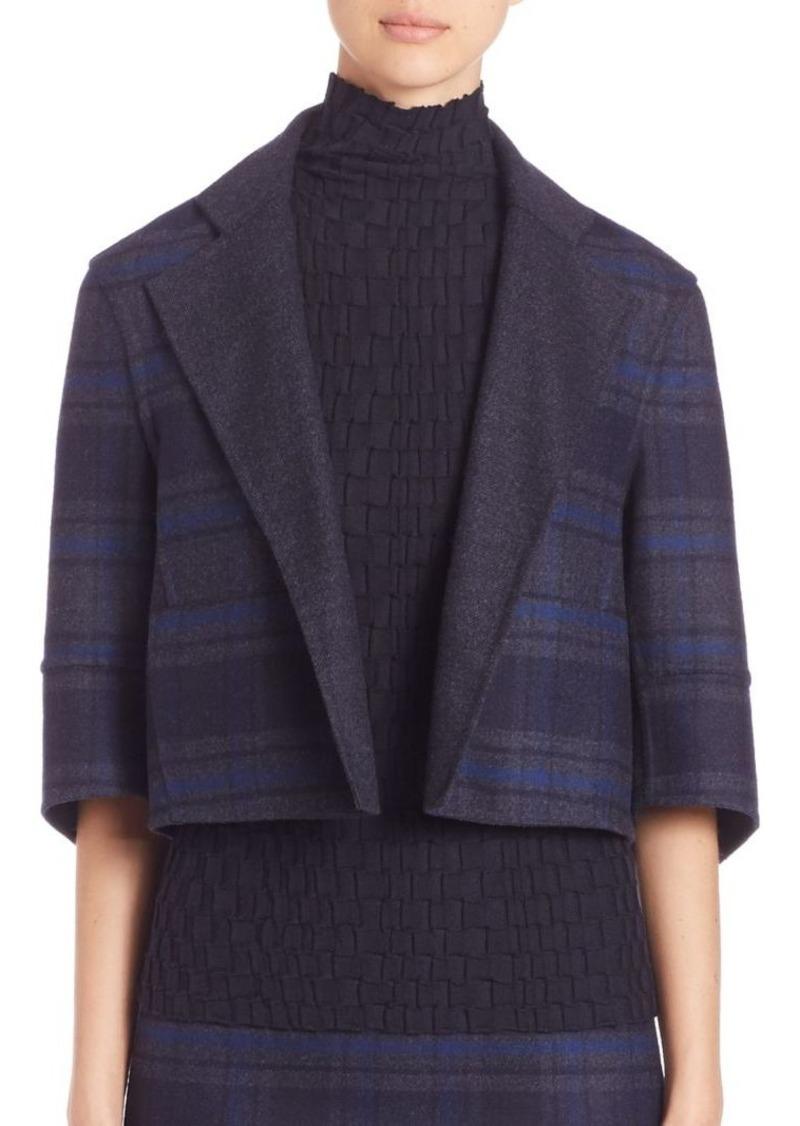 Akris Reversible Emma Double-Face Wool Plaid Jacket