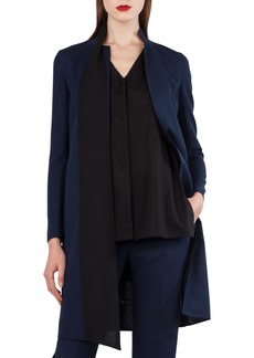 Akris Reversible Stretch Wool & Silk Coat