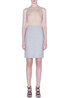 Akris Reversible Two-Tone Double Face Wool & Silk Dress