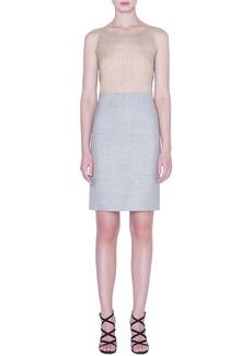 Akris Reversible Two-Tone Double Face Wool & Silk Dress