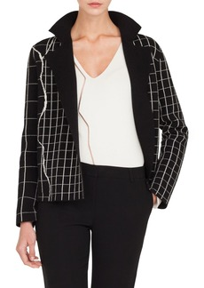 Akris Reversible Windowpane Sweater Jacket