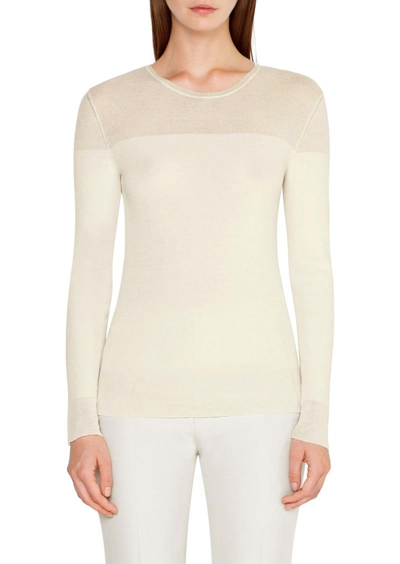 Akris Rib Wool & Silk Sweater