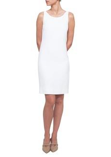 Akris Round-Neck Sleeveless Crepe Sheath Dress