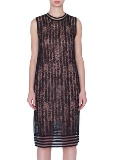 Akris Scribble Jacquard Linen Blend Dress