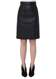 Akris Scuba-Fused Leather Skirt